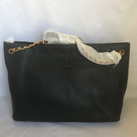 a0b71cd97153 41780 TORY BURCH MCGRAW CHAIN-SHOULDER TOTE